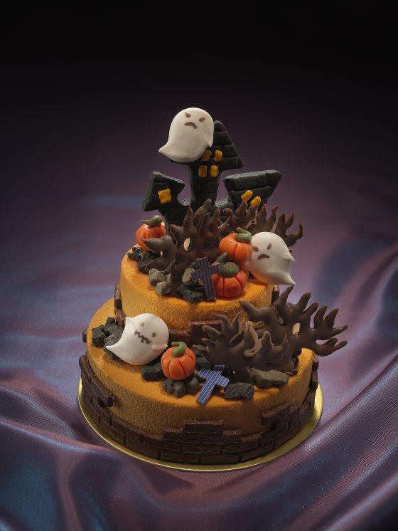 ハロウィンラウンドケーキ中身+